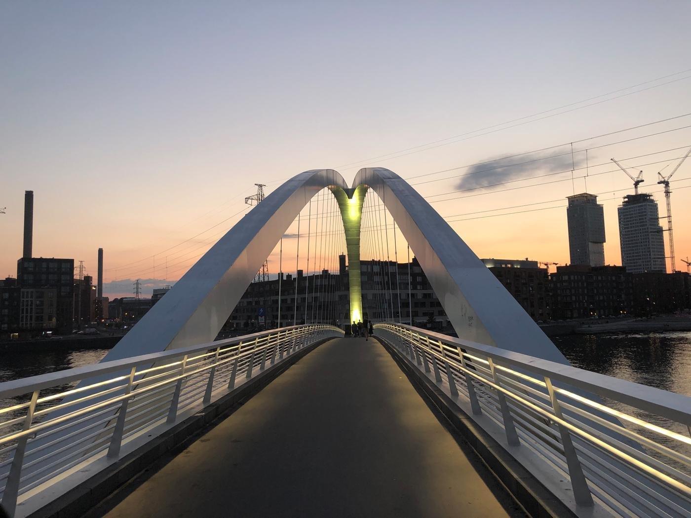 Мост на Mustikkamaa, остров черничной земли. Хельсинки