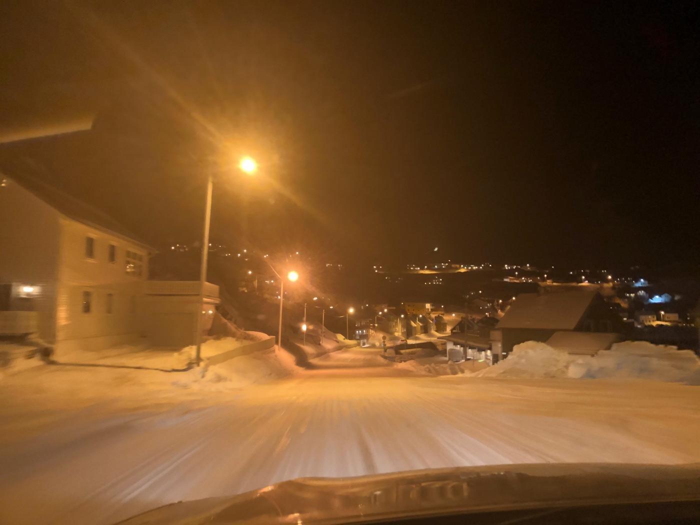 Деревня ночью