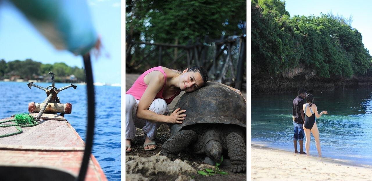 Занзибар – это остров посреди океана. Там пляжи как ванны, добрейшие люди и огромные черепахи.