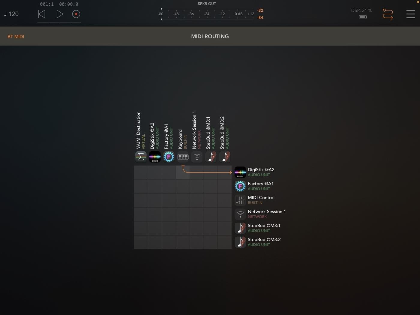 MIDI Connection Matrix