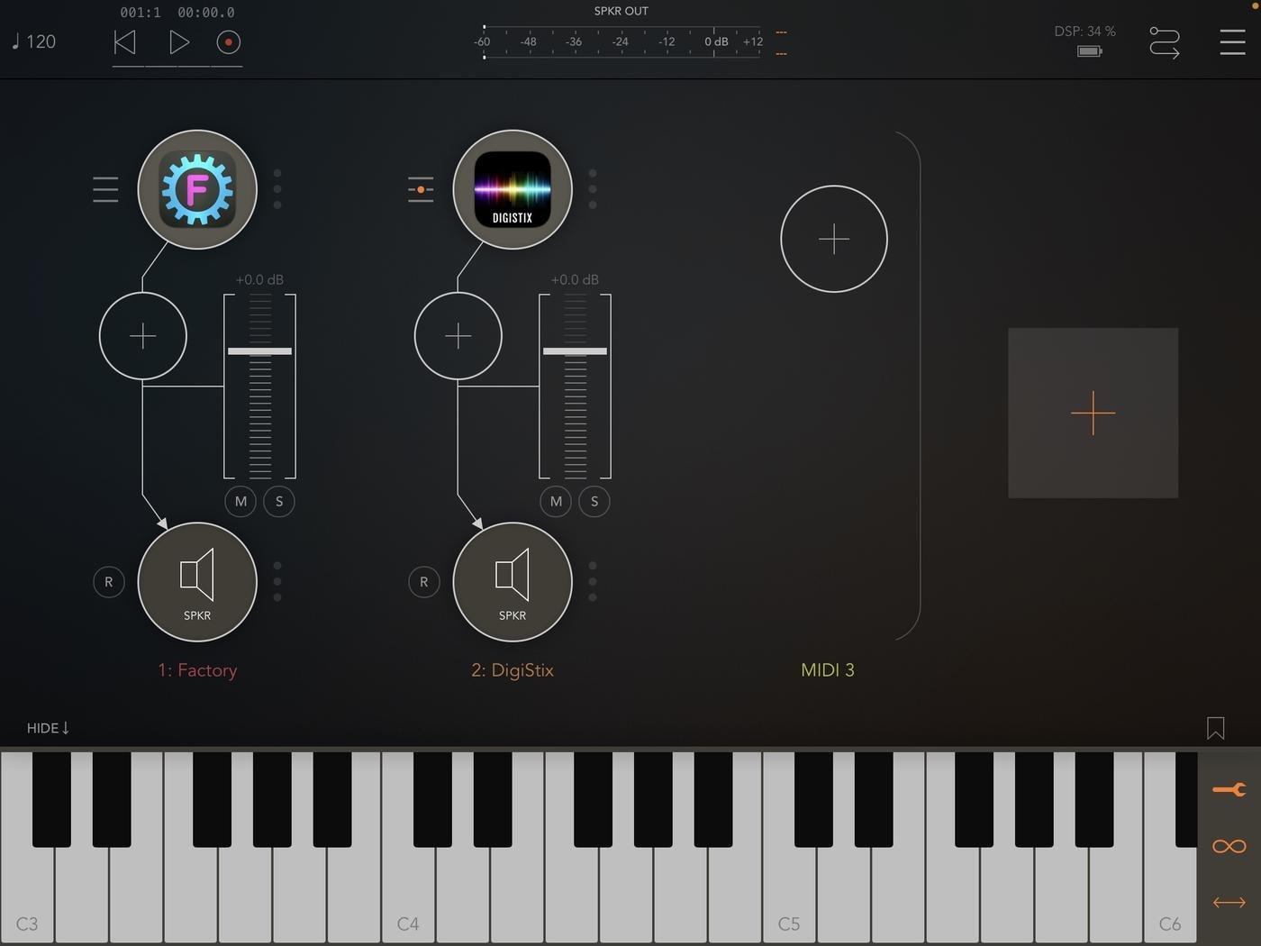 Новая шина MIDI