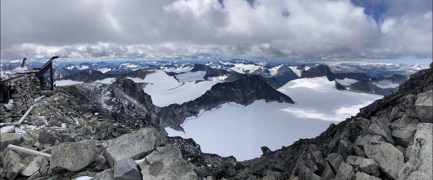 Вид с самой высокой горы Скандинавии!