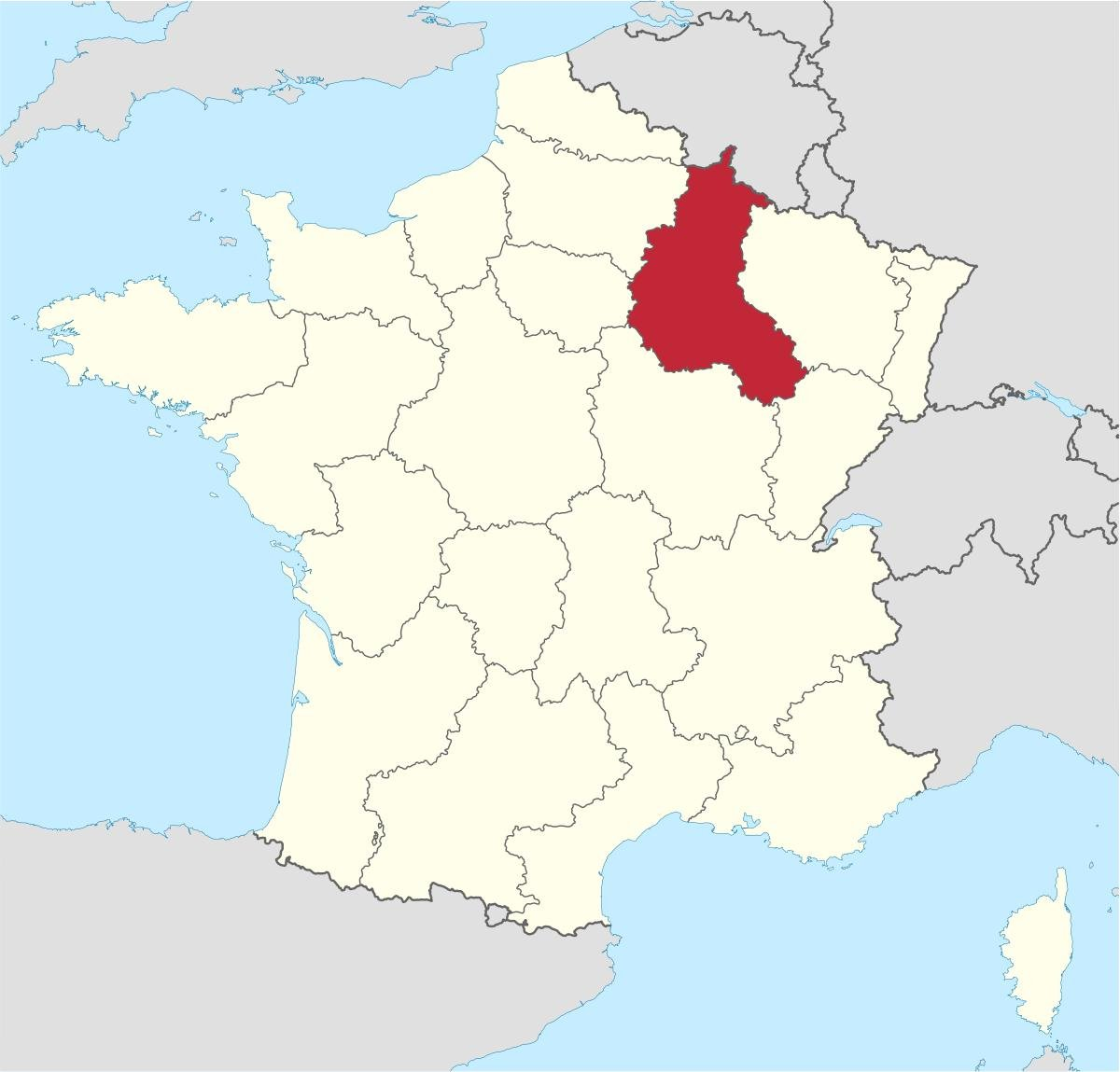 Тот самый регион Шампань на карте